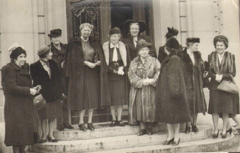 Zusammenkunft mit Eleanor Roosevelt