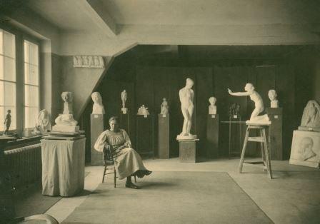 Atelierausstellung der Bildhauerin Ida-Schaer-Krause 1919