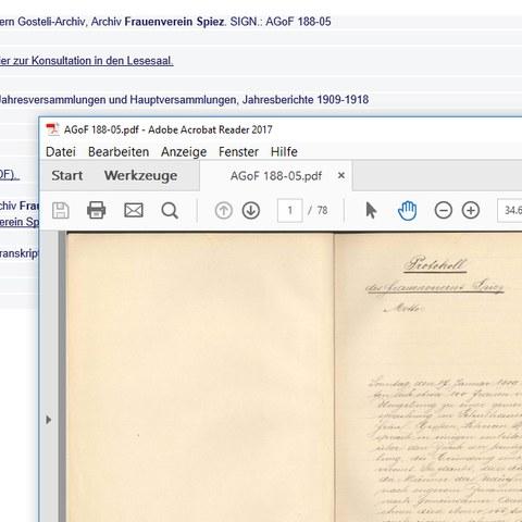 Archiv Frauenverein Spiez neu verfügbar